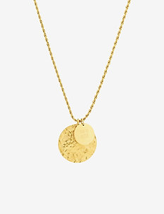 Devious Disc Long Necklace Steel - GOLD