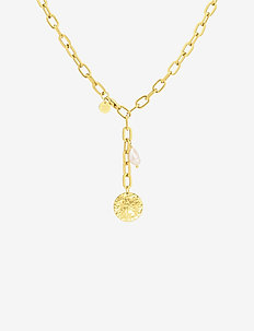 Devious Link Short Necklace Steel - GOLD