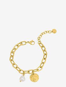 Devious Link Bracelet Steel - dainty - gold