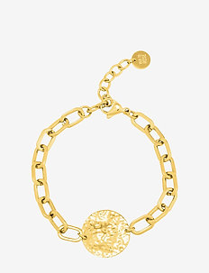 Devious Disc Link Bracelet Gold - dainty - gold