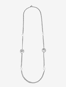 Devious Long Necklace Steel - dainty necklaces - silver