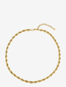 Twine Chunky Short Necklace Gold - dainty necklaces - silver