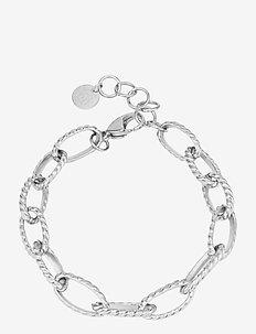 Link Pattern Bracelet Steel - dainty - silver