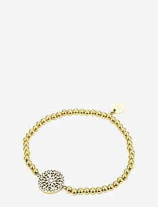 Sence Elastic Bracelet Steel - dainty - gold