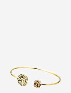Sence Crystal Bangle Clear/Steel - GOLD
