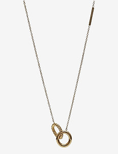Lola Twine Long Necklace Steel - dainty necklaces - gold