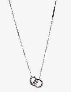 Lola Twine Long Necklace Steel - dainty necklaces - silver