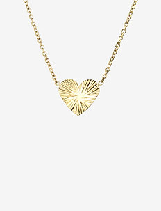 Heart Short Necklace Gold - dainty necklaces - gold