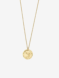 Devious Disc Short Necklace Steel - GOLD