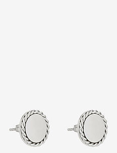 Be You Earring Steel - stud earrings - silver