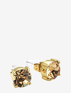 Sence Crystal Earring Clear/Steel - GOLD