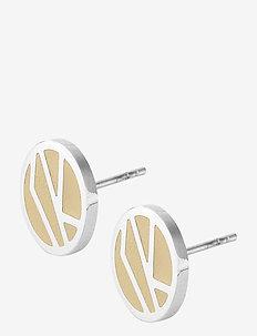 Rose Earring Sand/Steel - studs - silver