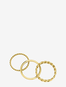 Chain Trio Ring Steel - GOLD