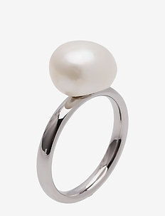 Pearl Ring Steel - bagues - silver