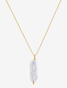 Long Pearl Necklace - riipukset - gold