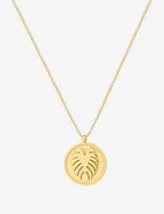 Palmleaf Coin Short Necklace - halskæder - gold