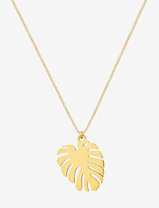 Palmleaf Short Necklace - dainty necklaces - gold