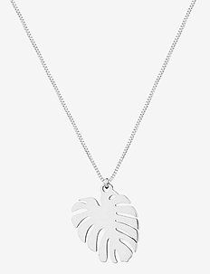 Palmleaf Short Necklace - dainty necklaces - silver