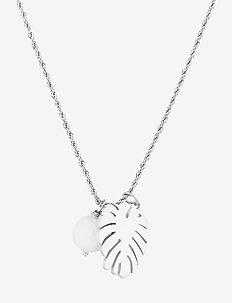 Palmleaf Long Necklace - halskæder - silver