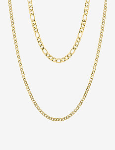 Figaro Duo Necklace - statement necklaces - silver