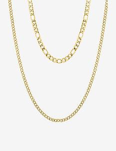 Figaro Duo Necklace - statement-kaulakorut - silver