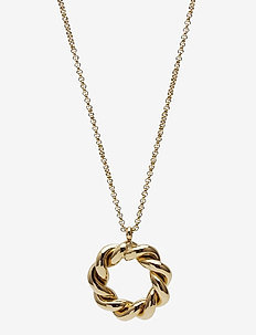 Twist Short Necklace - dainty necklaces - gold