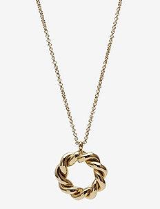 Twist Short Necklace - halskæder - gold