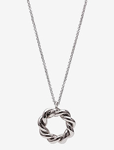 Twist Short Necklace - dainty necklaces - silver