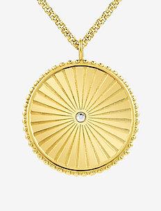 Sunray Long Necklace - halskæder - gold