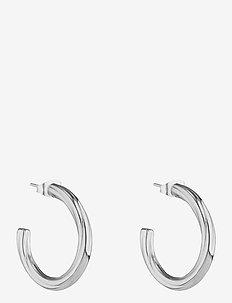 Chloe Twist Small Hoop Earring - hoops - silver