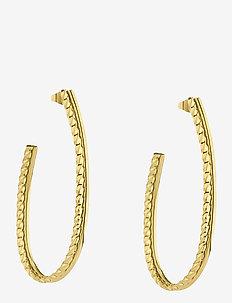 Kim Earring - hoops - gold