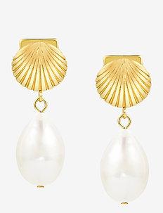 Coast Pearl Earring - pendant - gold