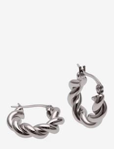 Twist Earring - hoops - silver