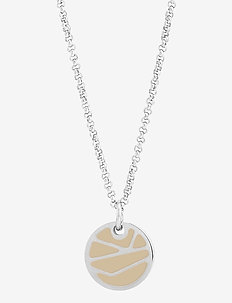 Rose Enamel Short Necklace Sand/Steel - dainty necklaces - silver