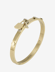 Love Lock Bangle Steel - bangles - gold