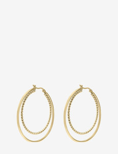 Double Hoop Earring Gold - creoler - gold