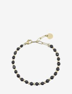 Spirit Bracelet Black/Gold - dainty - gold