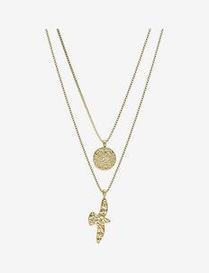 Dove Duo Necklace Steel - kettingen met hanger - gold