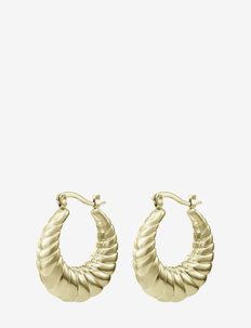 Sway Large Earring Gold - creoler - gold