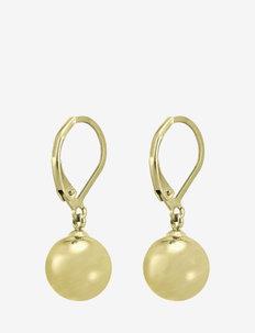 Globe Hook 10mm  Earring Steel - oorhangers - gold