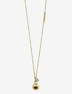 Quincy Steel Long Necklace - GOLD