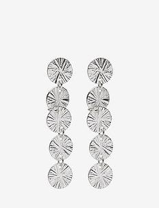 Belize Coin Long Earring - SILVER