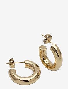Lola Earring Steel - hoops - gold