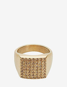 Linn Ring Crystal - CHAMPAGNE/GOLD