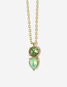 Mini River Short Necklace - GREEN/GOLD