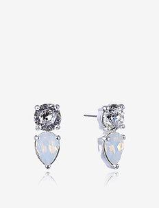 Mini River Earring - WHITE/GOLD
