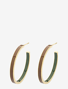 Flavia Enamel Earring - GOLD