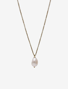 Baroque Pearl Short Necklace Steel - dainty necklaces - gold