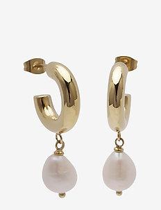 Lola Pearl Earring Steel - GOLD