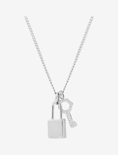Love Lock Necklace Steel - halskæder med vedhæng - silver